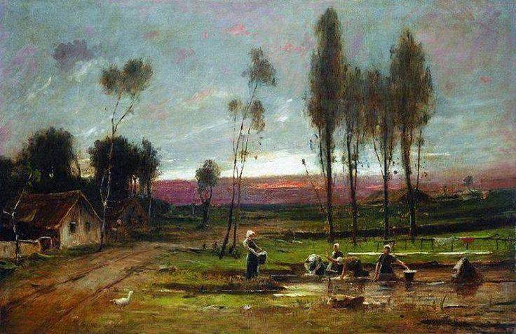 MUNKÁCSY MIHÁLY: MOSÓNŐK (1892)