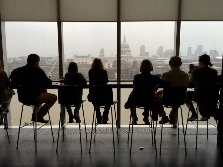 View from the Tate Modern Restaurant in London on a rainy day