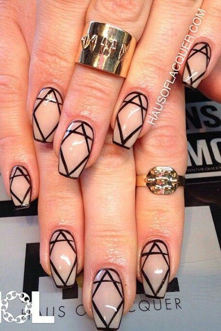 17 Best Ideas About Diamond Nail Designs On Pinterest
