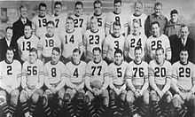 1932 ~ Chicago Bears (vs. the Portsmouth Spartans) ~ The 1932 NFL season resulted in a tie for first place between the Chicago Bears and Portsmouth Spartans, and could not be resolved by the typical win–loss system. To settle the tie, a playoff game was played; Chicago won the game and the championship. The following year the NFL split into two divisions, and the winner of each division would play in the NFL Championship Game ~ http://en.wikipedia.org/wiki/1932_NFL_season