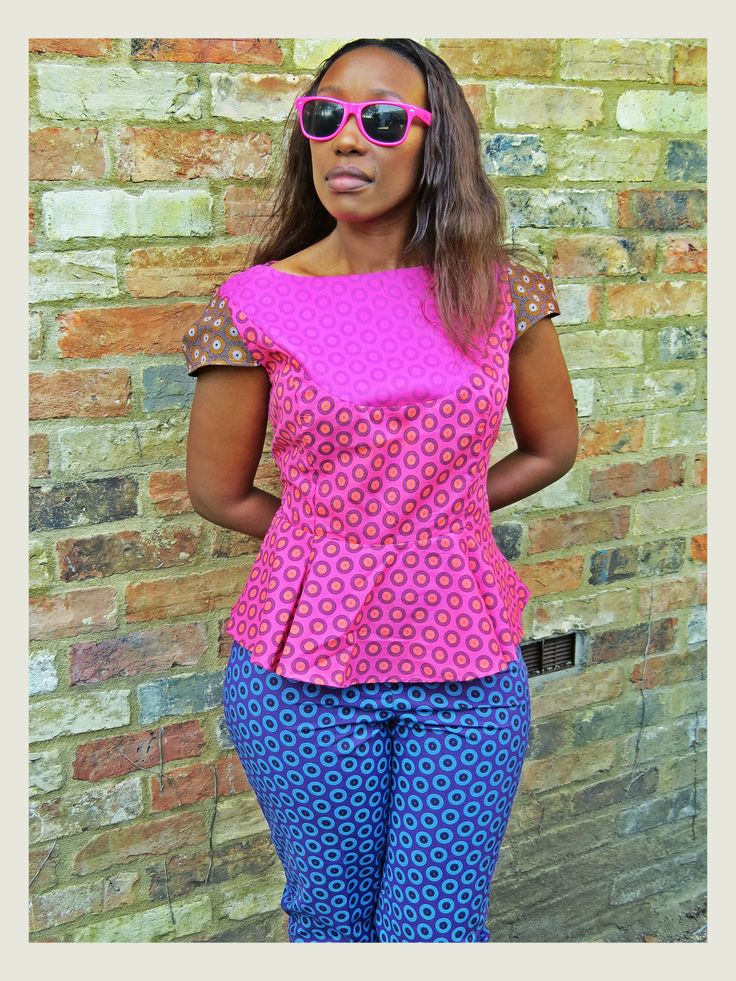 Peplum top with fitted trouser