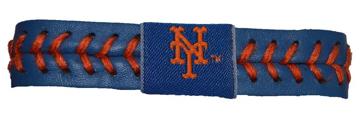 MLB New York Mets Game Wear Team Leather Color Football Bracelet