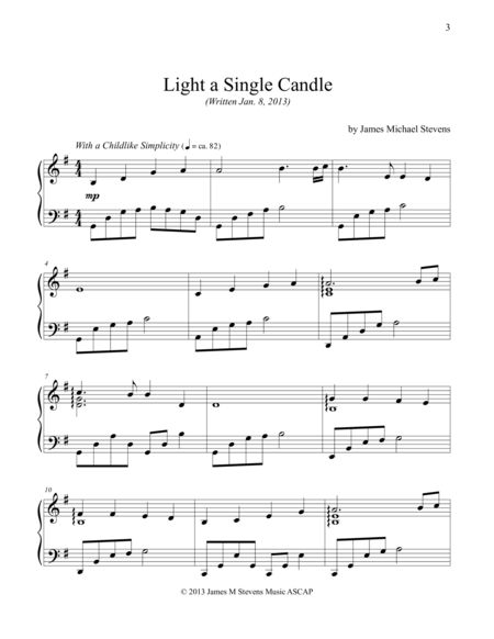 light a candle for peace piano pdf
