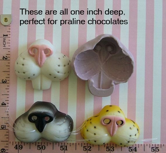 Cat Rabbit Cheetah 3D Animal Snout Silicone Mold Fondant Chocolate Candy Cake Tool Cupcake Topper Cake Topper Resin Polymer Clay Craft
