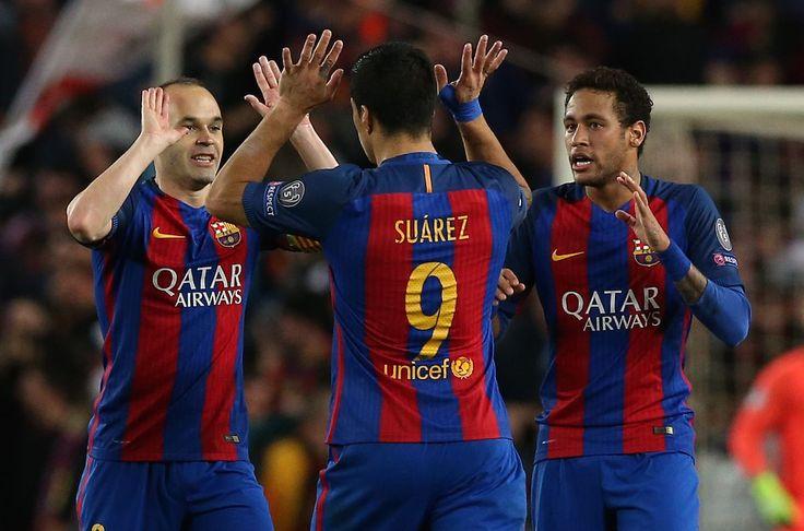 Iniesta Suarez Neymar Barcelona mar2017