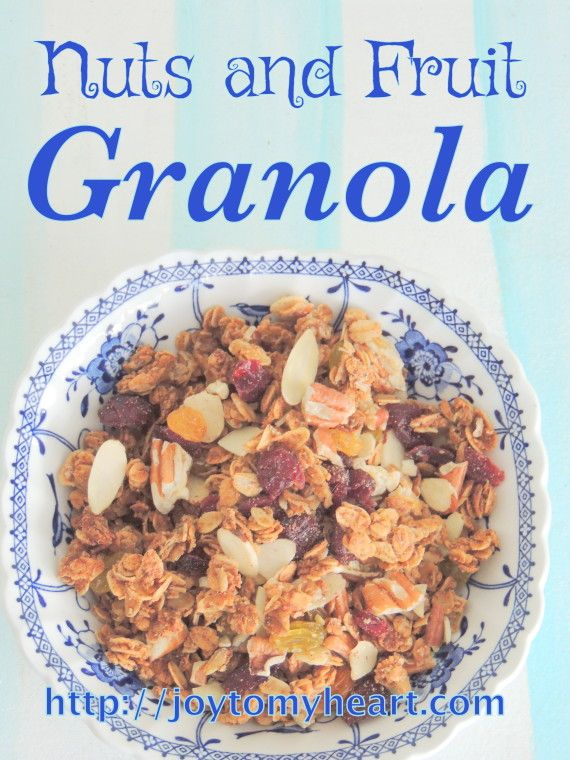 Delicious Homemade GRANOLA… Easy….Nuts and Fruit Granola