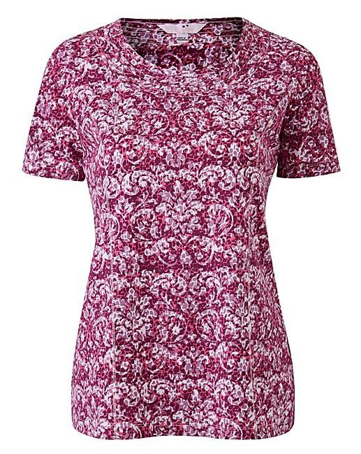 68bd7e13fce16 Julipa Print Jersey Top With Neck Detail Size 24 rrp £12.00 SA078 EE 12 in  2018