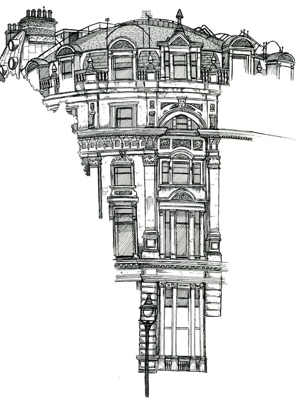 Architectural Sketches - Location Drawings by Chris Burge, via Behance