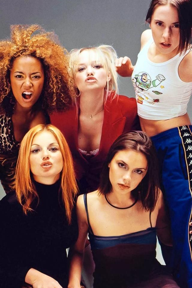 spice girls --- i heard the spice girls in an British show from the 90's the other day. It was like in the background of the club... ahhh the memories.