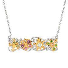 "155-177 - Gems En Vogue 18"" Multi Gem Critter Bar Necklace W/ 2"" Extender"