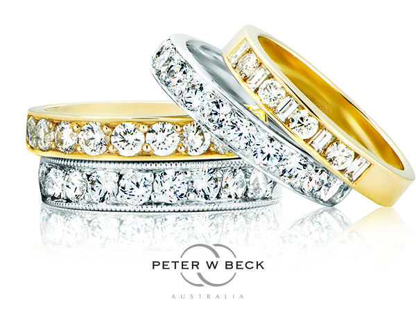 Gorgeous #diamond #wedding #rings by Peter W Beck Australia. #Australia #gold #peterwbeck