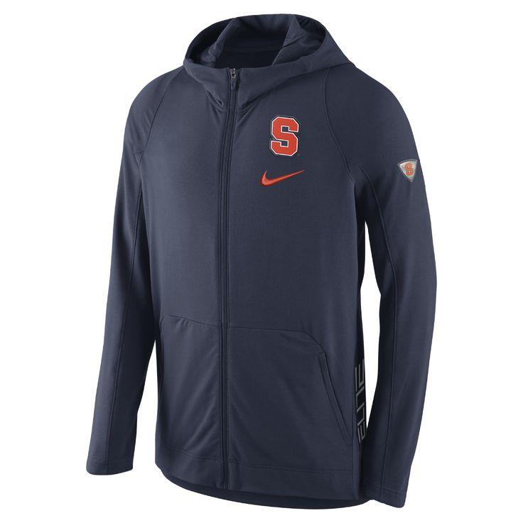 Nike College Hyper Elite (Syracuse) Men's Basketball Hoodie Size Medium (Blue) - Clearance Sale
