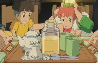 Ponyo's Hot Tea with Milk and Honey - Ghibli food