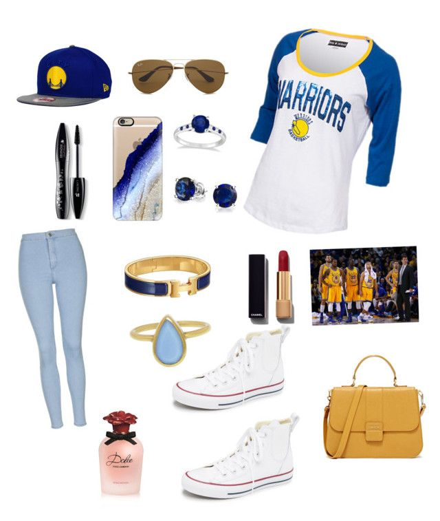 U0026quot;Golden state warriors basketball woman outfitu0026quot; by oliviakeller1 on Polyvore featuring New Era ...
