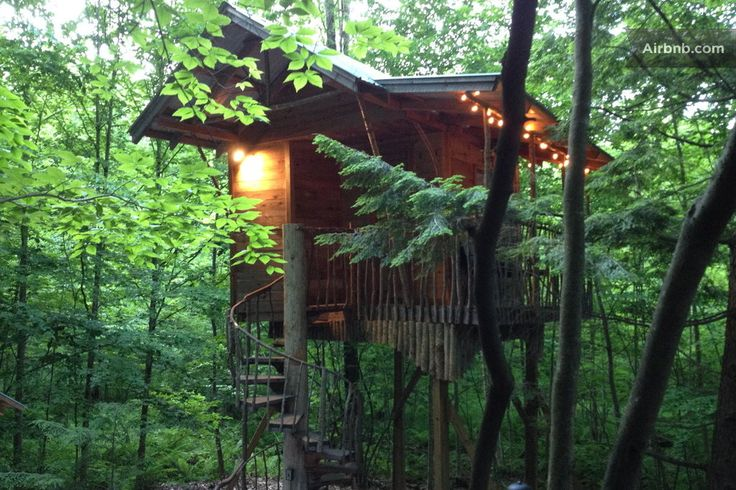 Happy #TreehouseTuesday from the Adirondacks. Nestled in the foothills of the Adirondack Mountains. and just 9 miles from Saratoga Springs, NY- this listing is boasting quiet solitude.