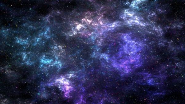 Обои галактика, звезды, туманность, сгустки