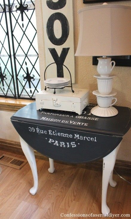 Drop- leaf table with graphics - hmm, I have a drop leaf table