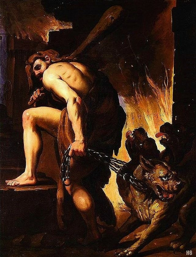 Image result for hercules and cerberus