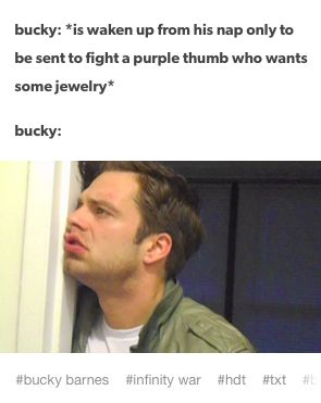 "infinity war ""purple thumb who wants some jewelry"" XD XD XD"