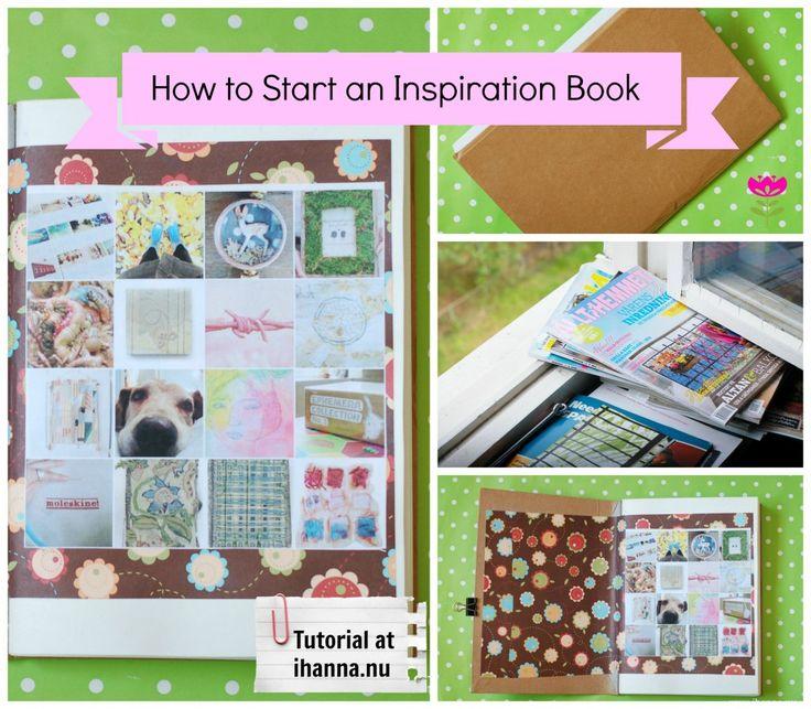 How to start an Idea Book - a free tutorial by iHanna found at www.ihanna.nu