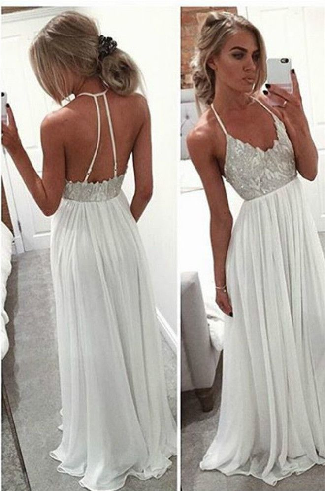 1000  ideas about White Long Dresses on Pinterest  Homecoming ...