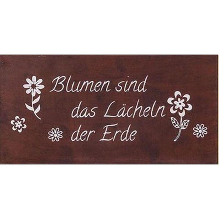 Boltze Schild Gartenschild B40 H20cm rost Eisen lackiert Lächeln der Erde Blumen in Sammeln & Seltenes, Reklame & Werbung, Schilder | eBay!