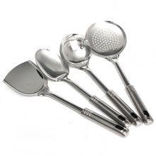 New Arrival High Standard Cooking Utensils 5 pieces Set Stainless Steel Cookware Shovel Spoon Set Spatula Rack Kitchen Utensils