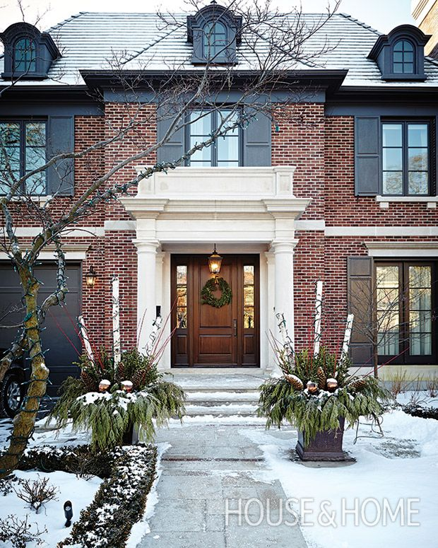 The Georgian-style new-build is restrained, save for its classically inspired portico. | Photographer: Angus Fergusson Designer: Silvana D'Addazio