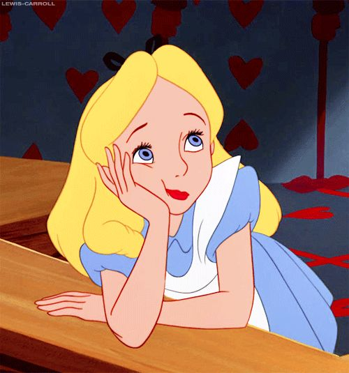alice's expression when she saw the new alice in wonderland movie