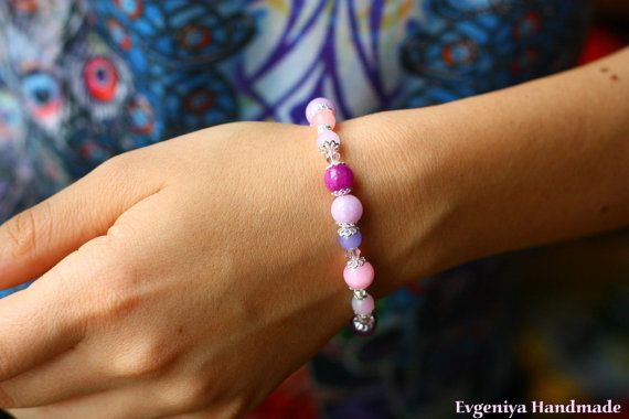 Handmade Bracelet  Bracelet made of different by MyDayDreamsShop