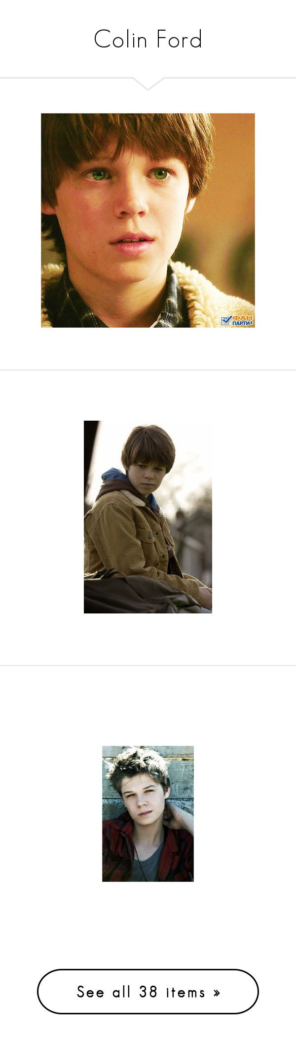 """""""Colin Ford"""" by ltspork ❤ liked on Polyvore featuring supernatural, people, colin ford, home, home decor, men, boy, pictures, male and guys"""