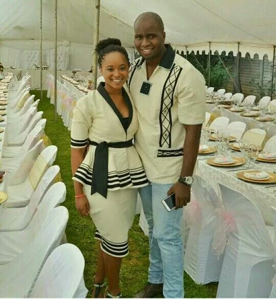 Xhosa his and hers outfit