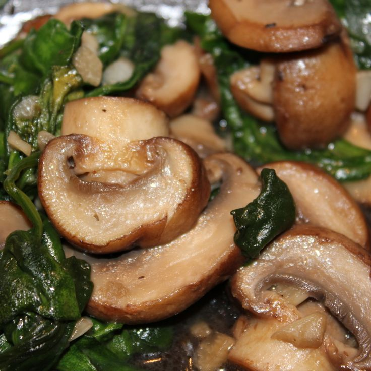 Sauteed Spinach & Mushrooms Recipe | Just A Pinch Recipes#.UFi8ruvG07A.pinterest