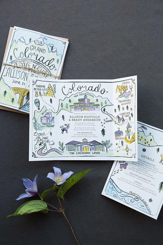 Illustrated Adventure Driven Wedding Invitations 619 best wedding