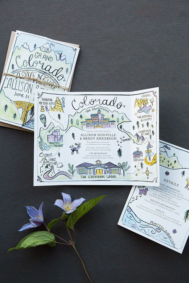 Well. These invitations from Caroline at Lovely Paper Things make me want to pack up for a wilderness adventure, which is saying a LOT for this city girl! From the amazing illustrations to the whimsical hand lettering and gorgeous fold-out map, these illustrated adventure-driven wedding invitations are definitely designed to convey the bride and groom's …