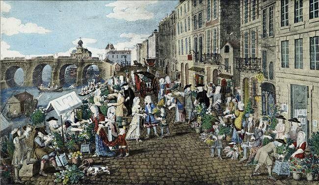 Paris le march aux fleurs quai de la m gisserie roger viollet cr dit ph - La boutique quai de la megisserie ...