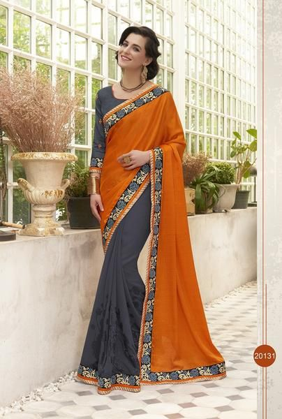Latest collection shop online partywear Indian Fancy Saree Blended With Multi Colour Suited For Parties Available With Blouse Piece From Simaaya Fashions With Shipping Globally.