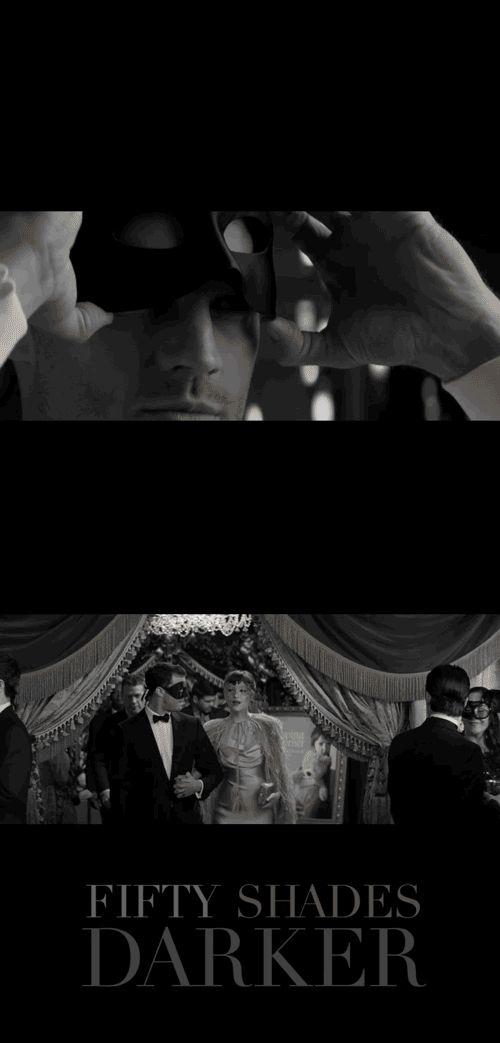 Jamie Dornan as Christian Grey and Dakota Johnson as Anastasia Steele slip into something a shade darker. | Fifty Shades Darker Movie | In theaters February 10.