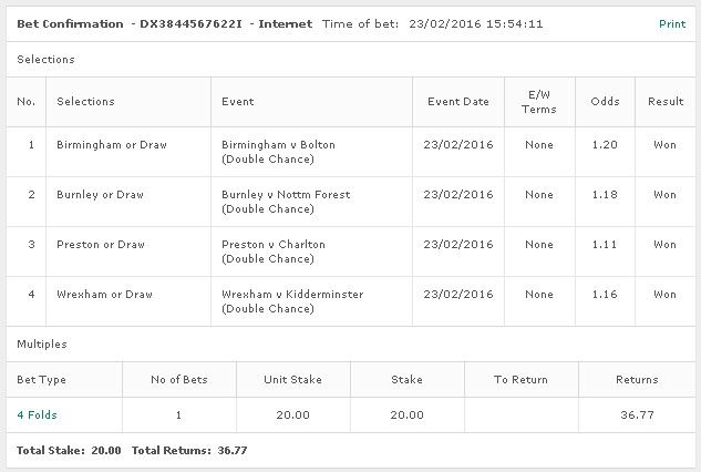 Yesterday Football Accumulator WINS!!!! @ 1.84. Join & Get Today Tips : www.premiumtipping.com