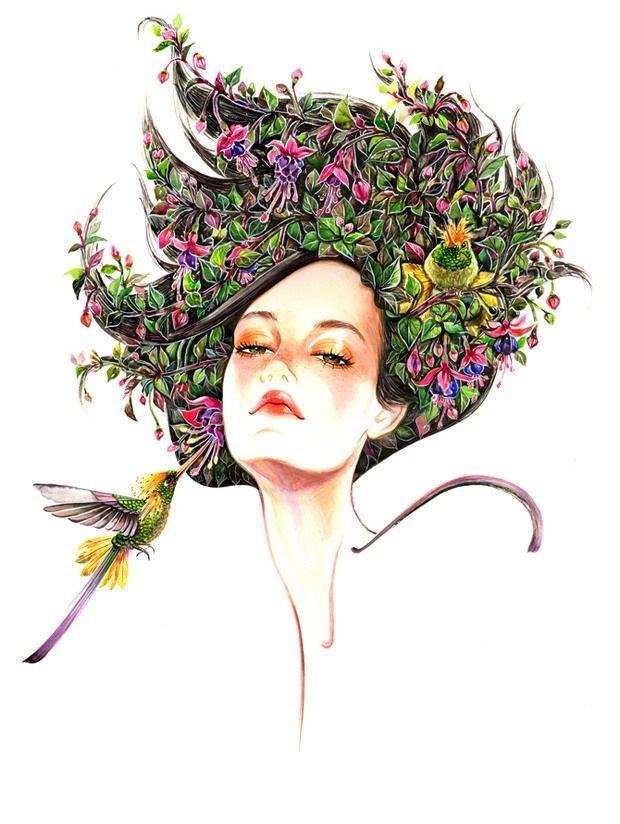 Floral Fashion Portraits by Sunny Gu.