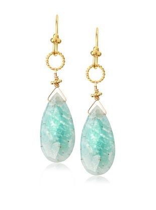 65% OFF Robindira Unsworth Teardrop Amazonite Earrings