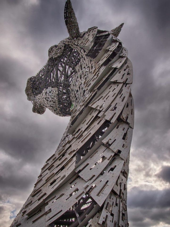 Best Andy Scott Images On Pinterest Lwren Scott Sculptures - Amazing horse head sculpture lights scottish skyline