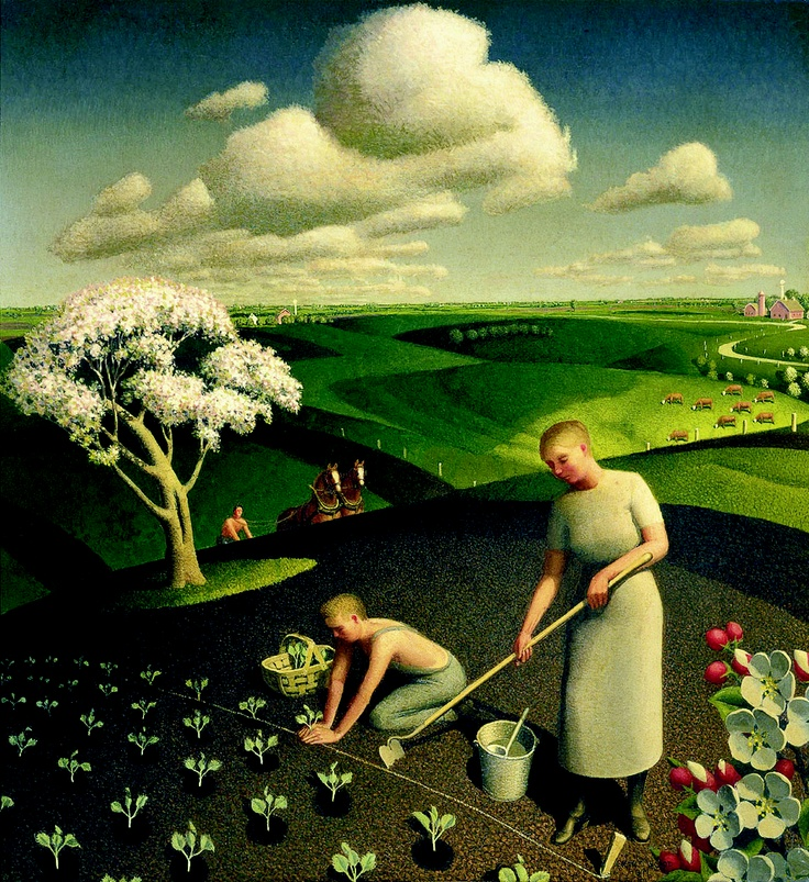 Grant Wood's Spring in The Country