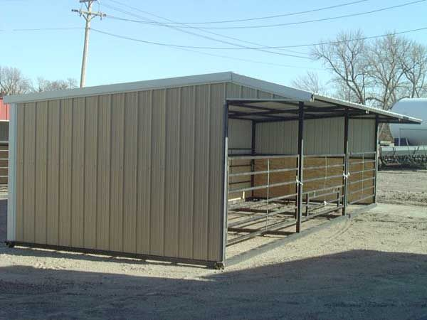 how to build calf shelter