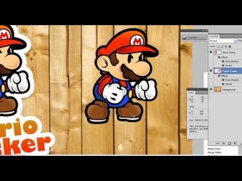 การสร าง ภาพ แบบสต กเกอร ใน Photoshop Youtube ภาพ