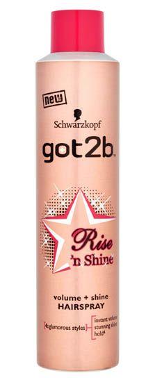 Schwarzkopf got2b Risen Shine Hairspray 300ml Schwarzkopf got2b Risen Shine Hairspray 300ml: Express Chemist offer fast delivery and friendly, reliable service. Buy Schwarzkopf got2b Risen Shine Hairspray 300ml online from Express Chemist today!  http://www.MightGet.com/january-2017-11/schwarzkopf-got2b-risen-shine-hairspray-300ml.asp