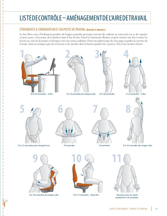 Superb Stretching exercices when working