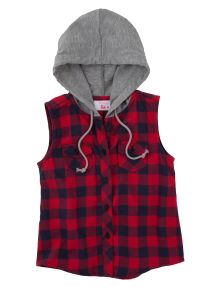 Tickled Pink Check Vest with Hood product photo