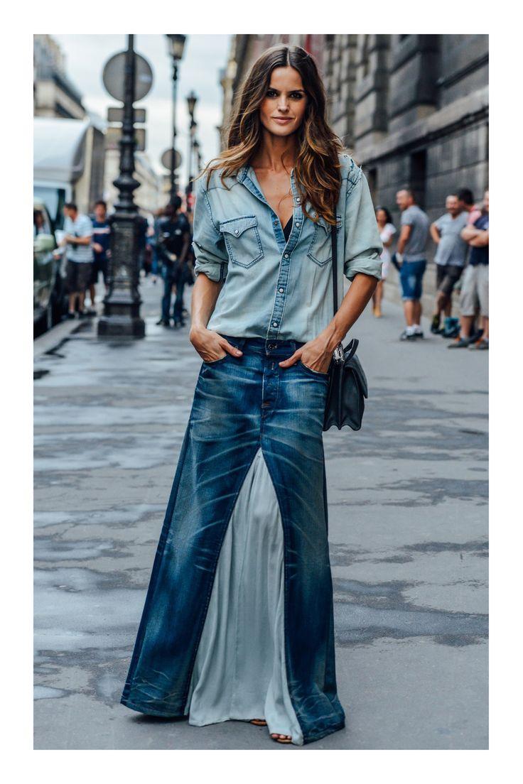 Mejores 25 imágenes de Falda Denim en Pinterest | Camisa de novio ...