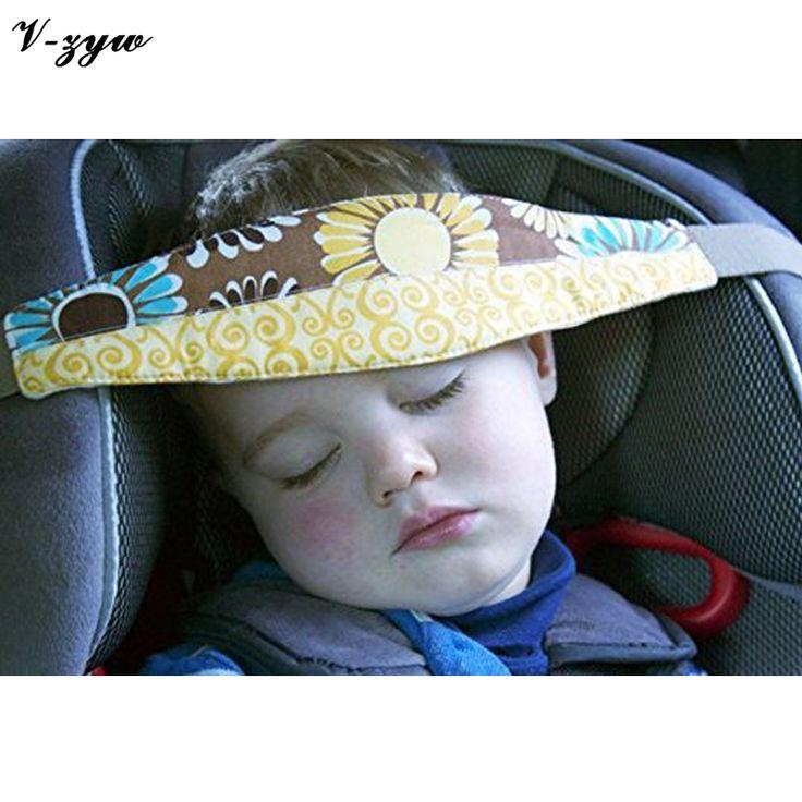 Car Safety Seat Sleep Positioner Baby Head Support Pram Stroller Fastening Belt Adjustable 1pc Infants Head Support Belt YS042